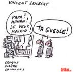 La Cour européenne ordonne le maintien en vie de Vincent Lambert - Dessin de Chimulus