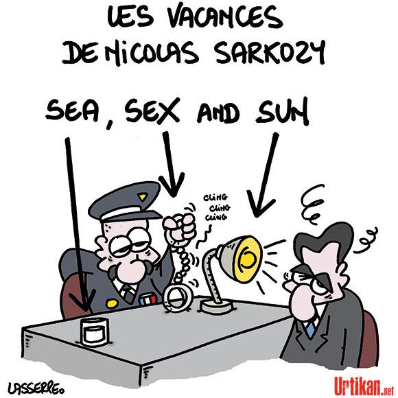 Nicolas Sarkozy mis en examen - Dessin de Lasserpe