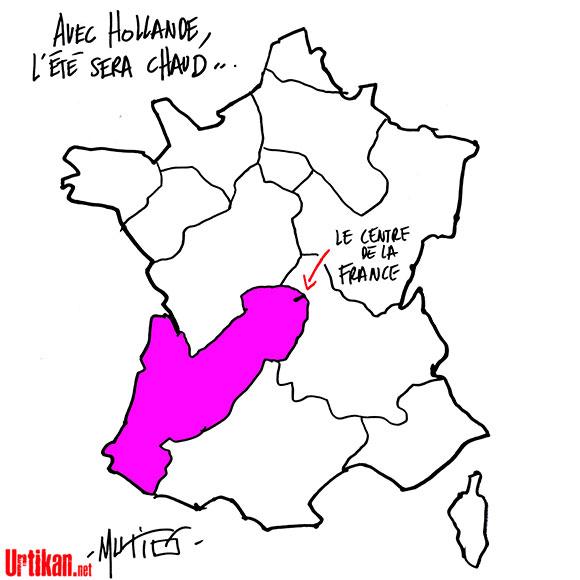 Réforme territoriale : vers une fusion Limousin-Aquitaine ? - Dessin de Mutio