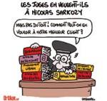 Nicolas Sarkozy et les juges - Dessin de Lasserpe