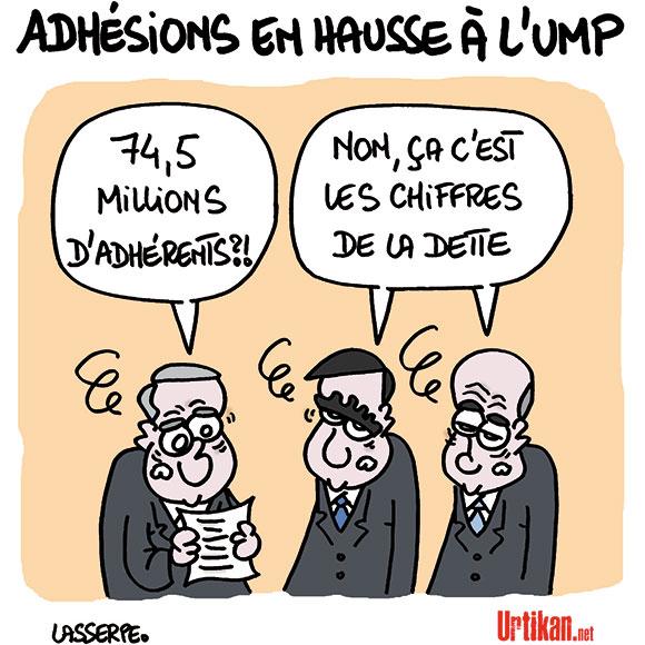 UMP : malgré les affaires, les adhésions affluent - Dessin de Lasserpe