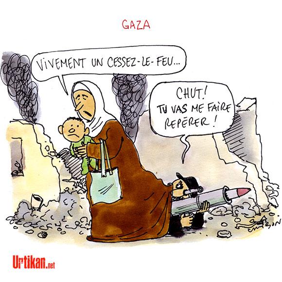 Cessez-le-feu de douze heures à Gaza entre Israël et le Hamas - Dessin de Cambon