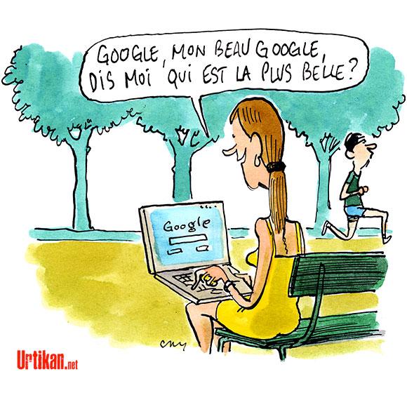 Google mon beau Google - Dessin de Cambon