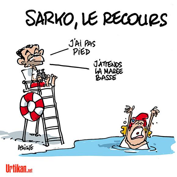 """Sarkozy et son """"retour"""" - Dessin de Deligne"""
