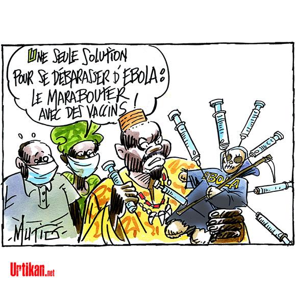 Ebola : l'Afrique en état d'alerte - Dessin de Mutio