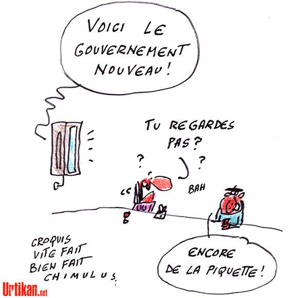 Le (nouveau) gouvernement Valls aujourd'hui