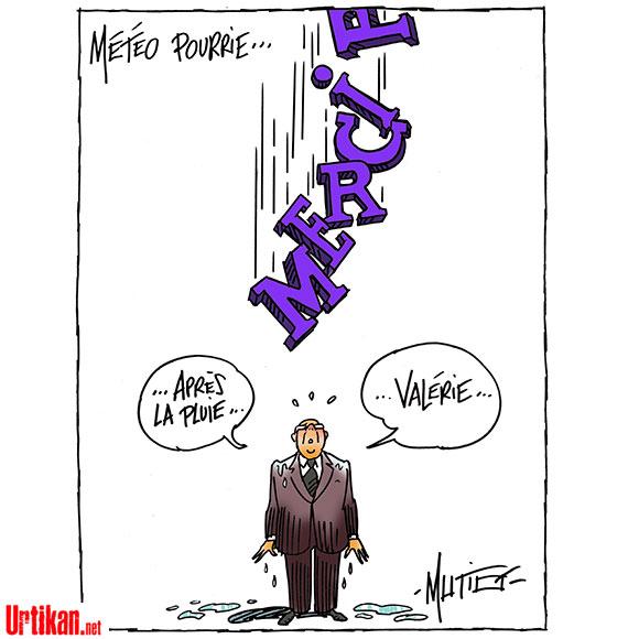 Les douches froides de François Hollande - Dessin de Mutio