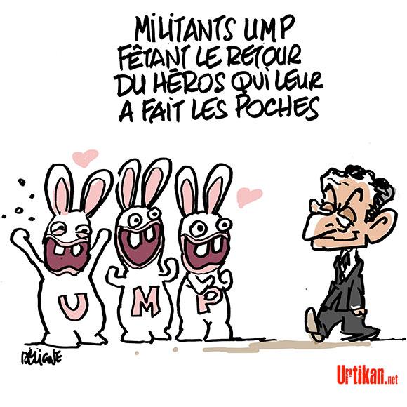 Nicolas Sarkozy le retour : Fan Club - Dessin de Deligne