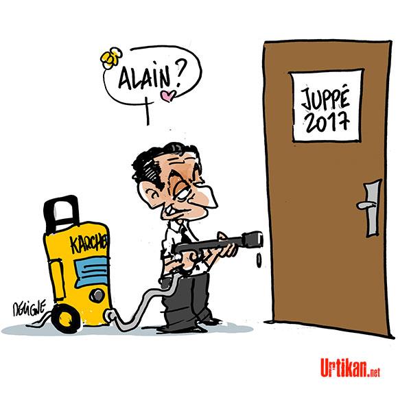 "Nicolas Sarkozy vs. Alain Juppé : ""Je vais te tuer"" - Dessin de Deligne"