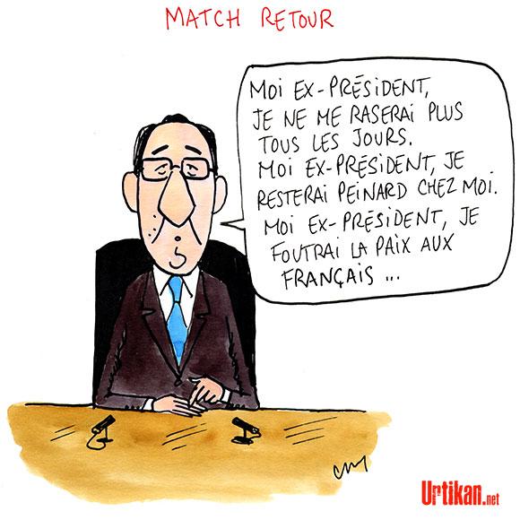 Que reste-t-il de l'anaphore de François Hollande ? - Dessin de Cambon