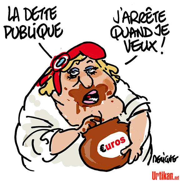 Régime minceur pour le budget de la France - Dessin de Deligne