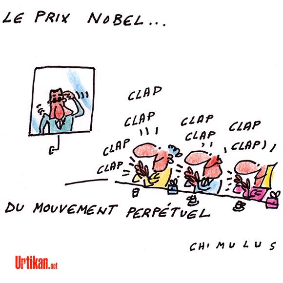 Nicolas Sarkozy Prix Nobel - Dessin de Chimulus