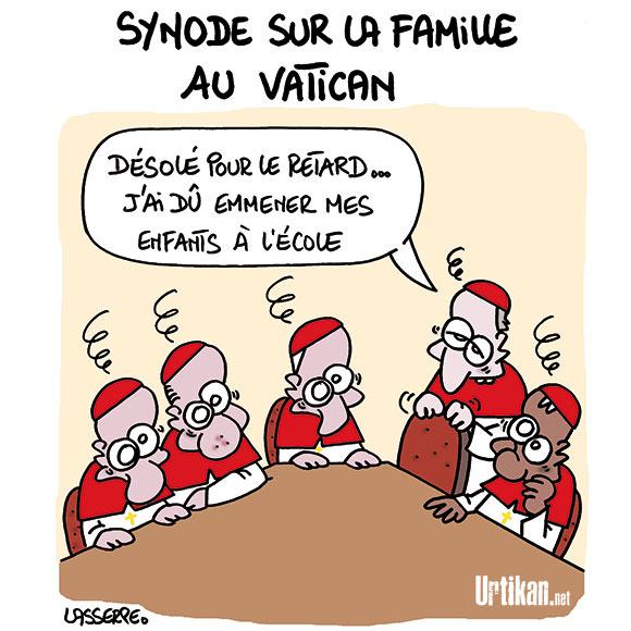 Querelle de famille au Vatican - Dessin de Lasserpe