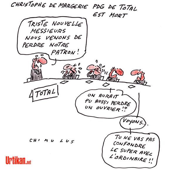 Crash de l'avion de Christophe de Margerie, PDG de Total - Dessin de Chimulus