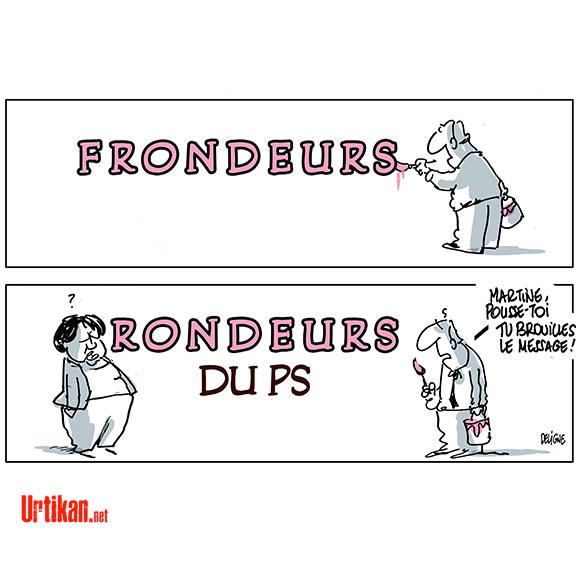 Martine et les Frondeurs - Dessin de Deligne