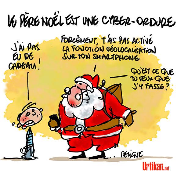 Père Noël 2.0 - Dessin de Deligne