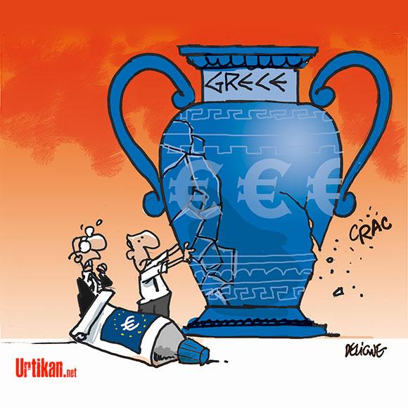 UE: quelles conséquences après la victoire de Syriza en Grèce? - Dessin de Deligne