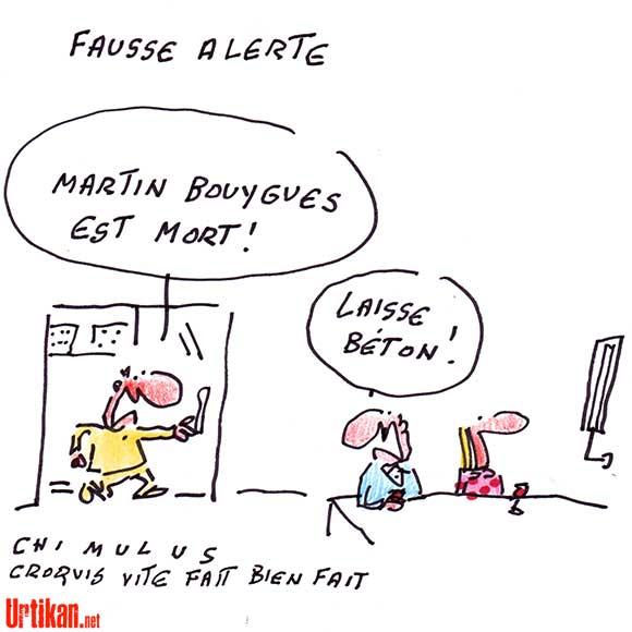 Le décès de Martin Bouygues a été annoncé à tort - Dessin de Chimulus