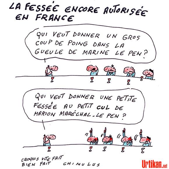 Le Conseil de l'Europe demande à la France d'interdire la fessée - Dessin de Chimulus