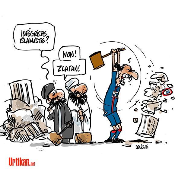 La grosse colère de Zlatan Ibrahimovic - Dessin de Deligne