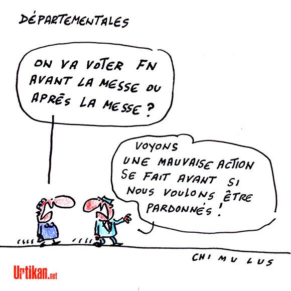 Départementales : Jour de vote dessin de Chimulus
