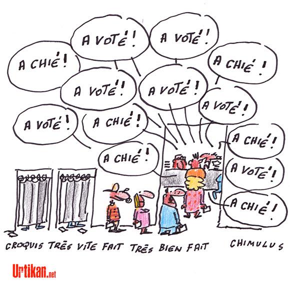 A voté ! - Dessin de Chimulus