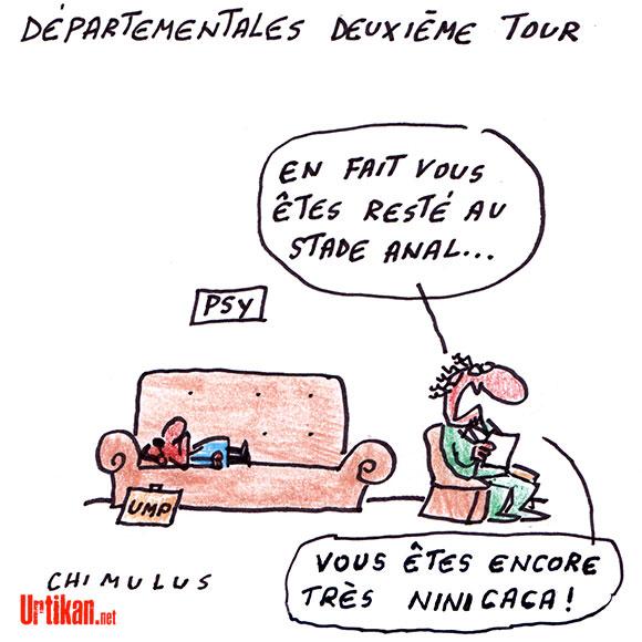 "Sarkozy appelle au ""ni-ni"" - Dessin de Chimulus"