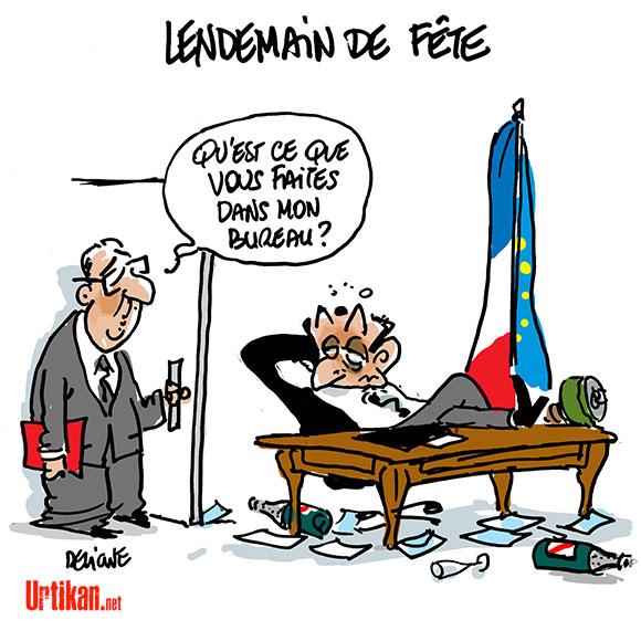 Départementales : Sarkozy pense déjà à l'après - Dessin de Deligne