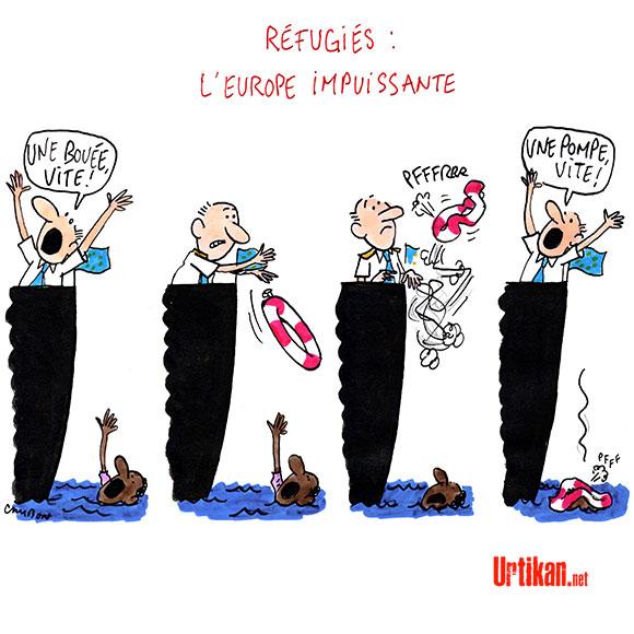 L'UE peut-elle faire face aux drames migratoires? - Dessin de Cambon