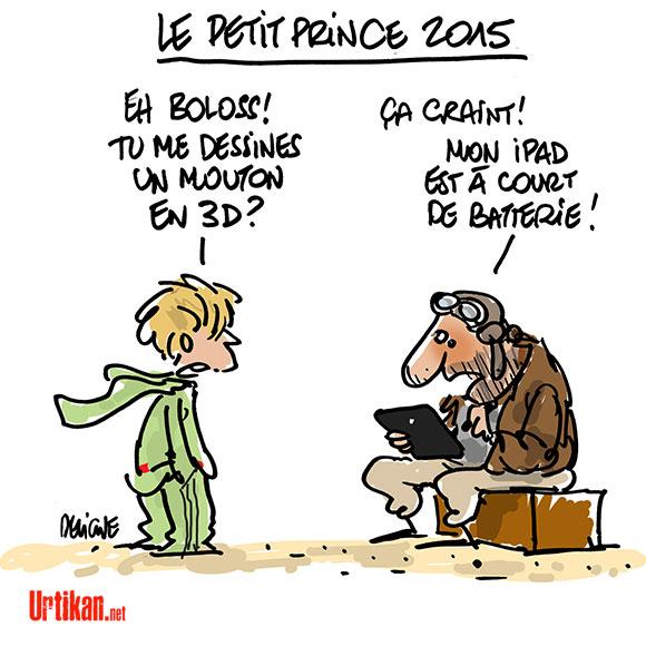 Le Petit Prince à Cannes, massacre en 3D - Dessin de Deligne