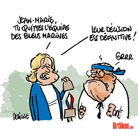 Le Pen à Koh-Lanta - Dessin de Deligne