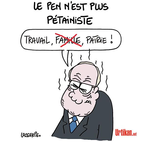 Week-end sans famille chez les Le Pen - Dessin de Lasserpe