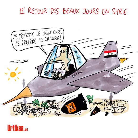 Syrie : Bachar al-Assad n'est toujours pas tombé - dessin de Cambon