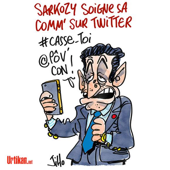 #NSDIRECT : les internautes ne font pas de cadeaux à Sarkozy - Dessin de Jiho
