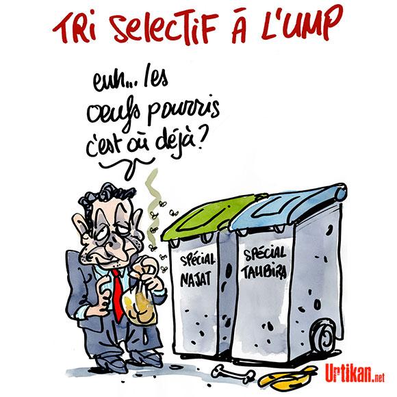 """L'accusation de Sarkozy sur """"le combat vers la médiocrité"""" de Vallaud-Belkacem et Taubira - Dessin de Jiho"""