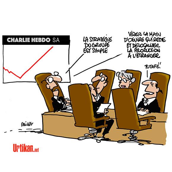 Charlie Hebdo : vers une nouvelle formule - Dessin de Deligne
