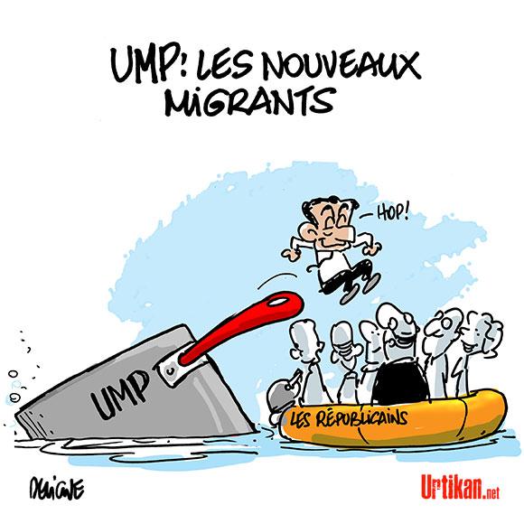 """Nicolas Sarkozy a le droit de rebaptiser l'UMP """"Les Républicains"""" dit la justice - Dessin de Deligne"""