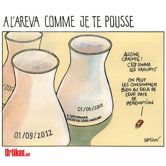 France : pas de retraite pour les centrales nucléaires  - Dessin de Samson