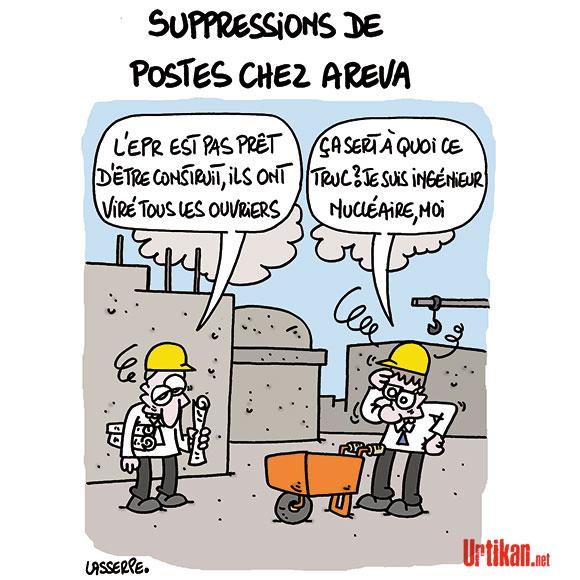 Les salariés d'Areva appelés à faire grève - Dessin de Lasserpe