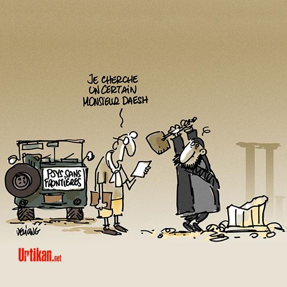 La réponse occidentale à l'état islamique... - Dessin de Deligne