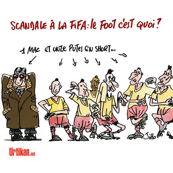 FIFA : la folle semaine qui a fait tomber Joseph Blatter - Dessin de Jiho