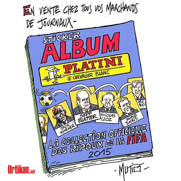 Foot : Michel Platini très fâché - Dessin de Mutio