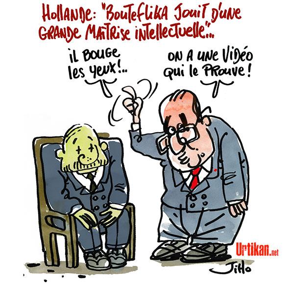 François Hollande expert médical pour Bouteflika - Dessin de Jiho
