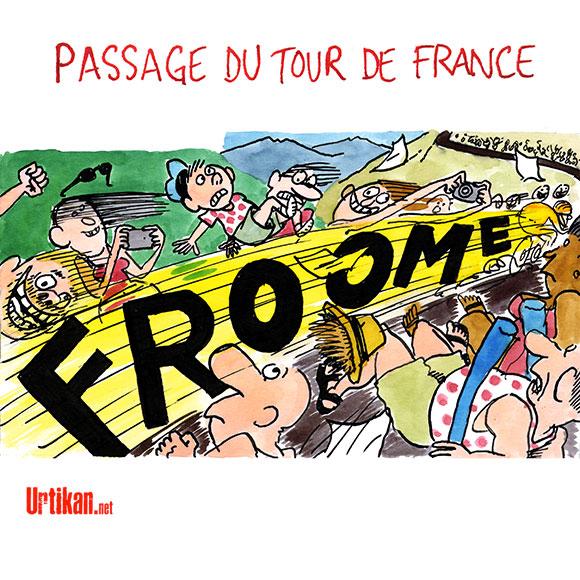 Tour de France : le dopage mécanique - Dessin de Cambon