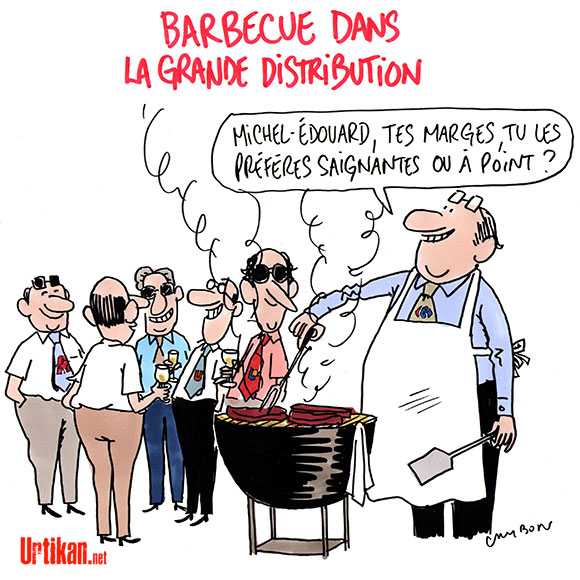 Les industriels de la viande refusent de payer plus - Dessin de Cambon