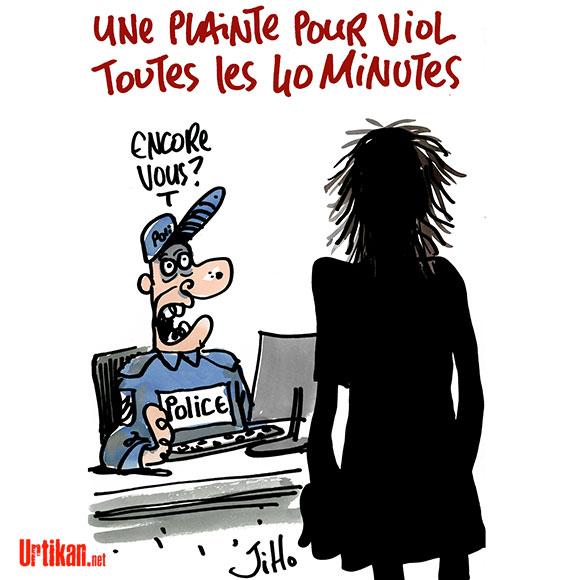 En France, un viol déclaré toutes les 40 minutes - Dessin de Jiho
