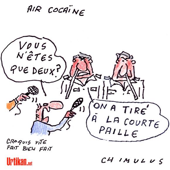 Air Cocaïne : une situation dramatique pour ceux qui sont restés - Dessin de Chimulus