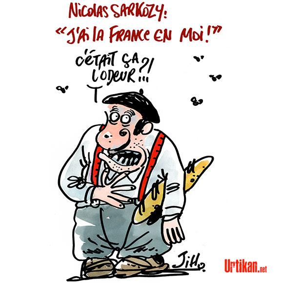 Nicolas Sarkozy, toujours ici ! - Dessin de Jiho