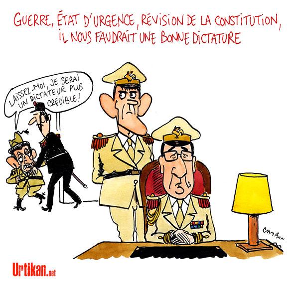 """Hollande veut """"détruire"""" Daesh - Dessin de Cambon"""