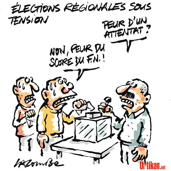 Régionales : le Front national espère rafler la mise - Dessin de Lacombe